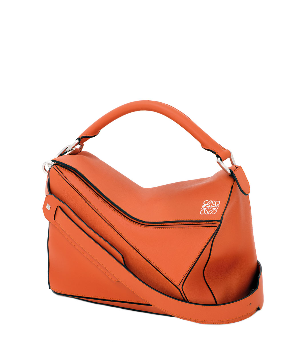 ShopBazaar Loewe Small Orange Puzzle Bag MAIN