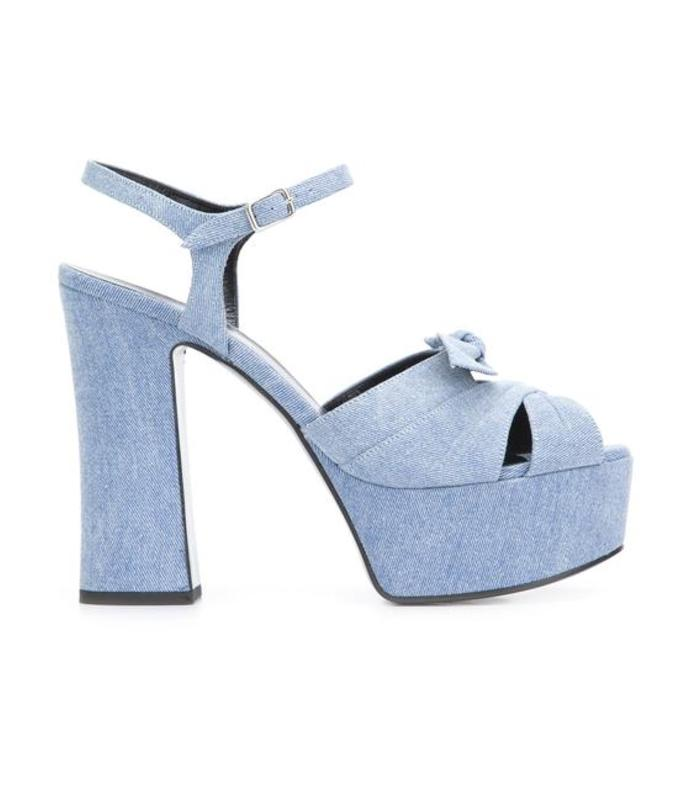 light blue 'candy 80' sandal