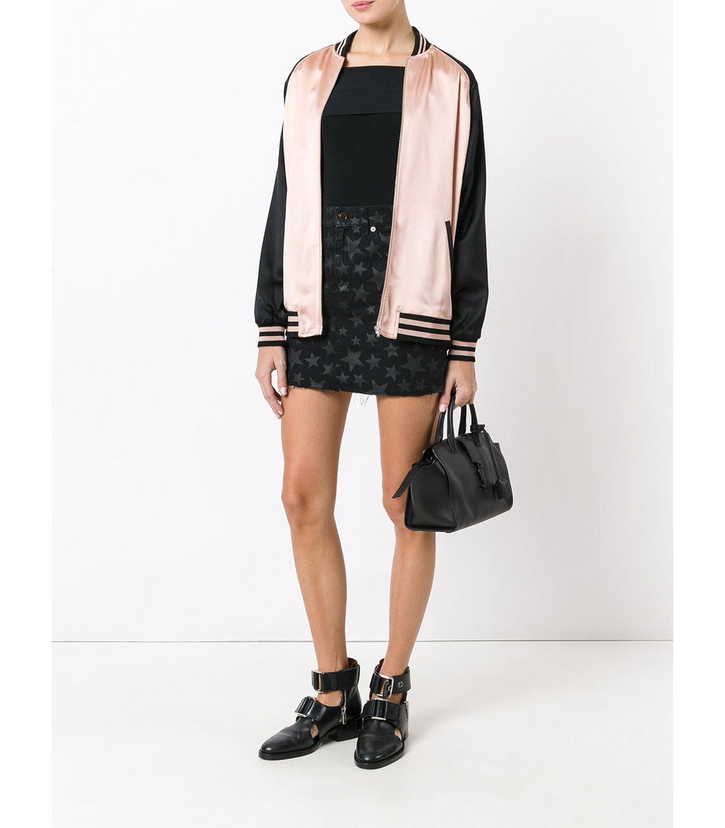 Saint Laurent Oversized Baseball Jacket - Pink Wool Blend Jacket