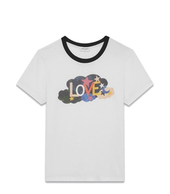 white 'love' t-shirt