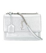 metallic small sunset monogram satchel