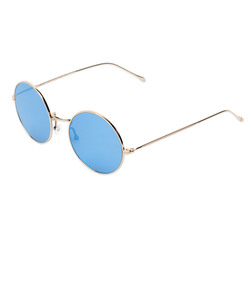 ShopBazaar Illesteva Blue Mirror Porto Cervo Sunglasses FRONT