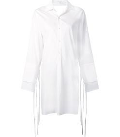 white 'poplin' shirt dress