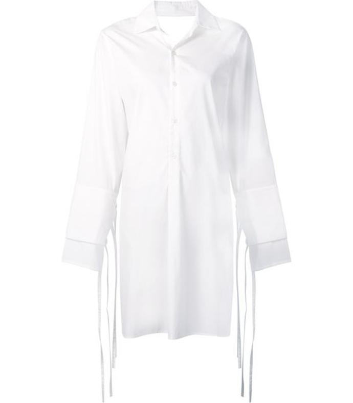 white 'poplin' shirt dress