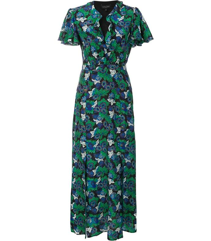 green 'josee' floral dress