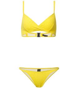 yellow yasmin seersucker bikini