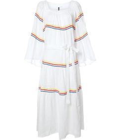 white peasant maxi dress