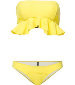yellow 'natalie' flounce bikini