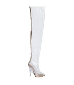 white tubular boot pvc