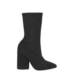 black bat canvas ankle boot