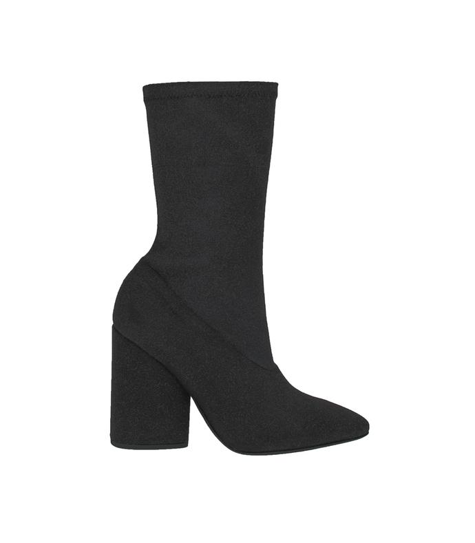black bat canvas ankle boot