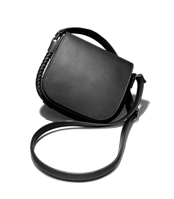 black small saddle bag