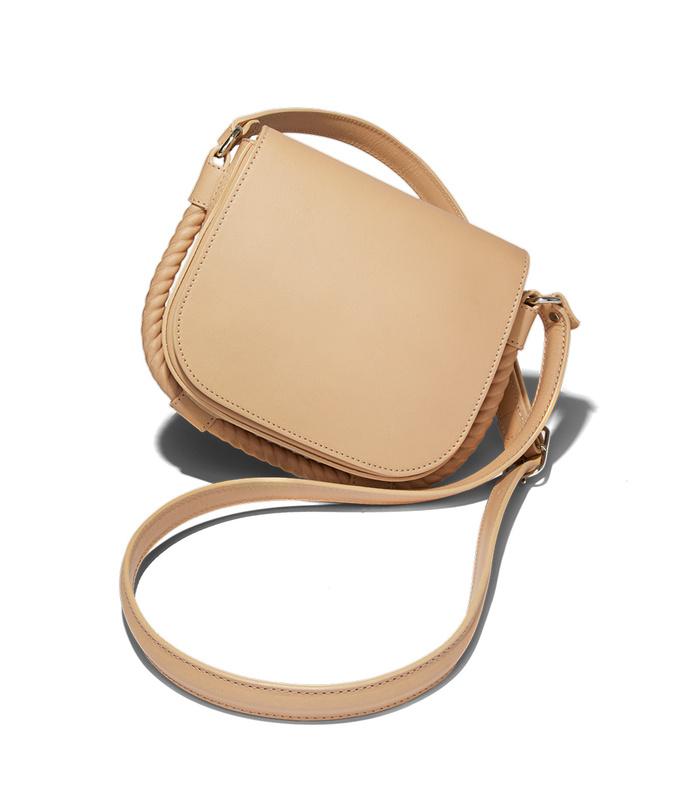 natural small saddle bag