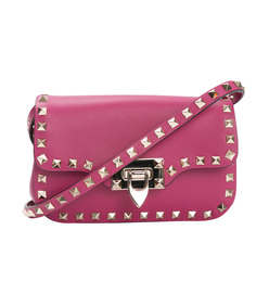 pink rockstud cross body bag