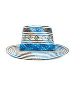 white & blue 'star of desire' hat