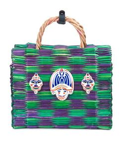purple & green 'true love' bag