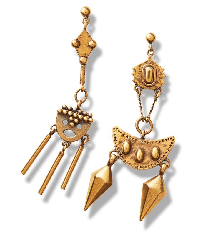 gold layton pendant earrings