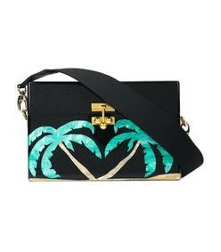 palm tree box clutch