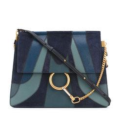 blue 'faye' shoulder bag