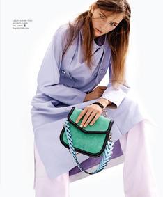 ShopBazaar Loewe V Shoulder Bag FRONT