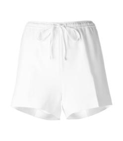 white tailored track short