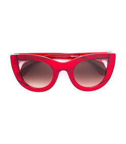 red cat-eye sunglasses