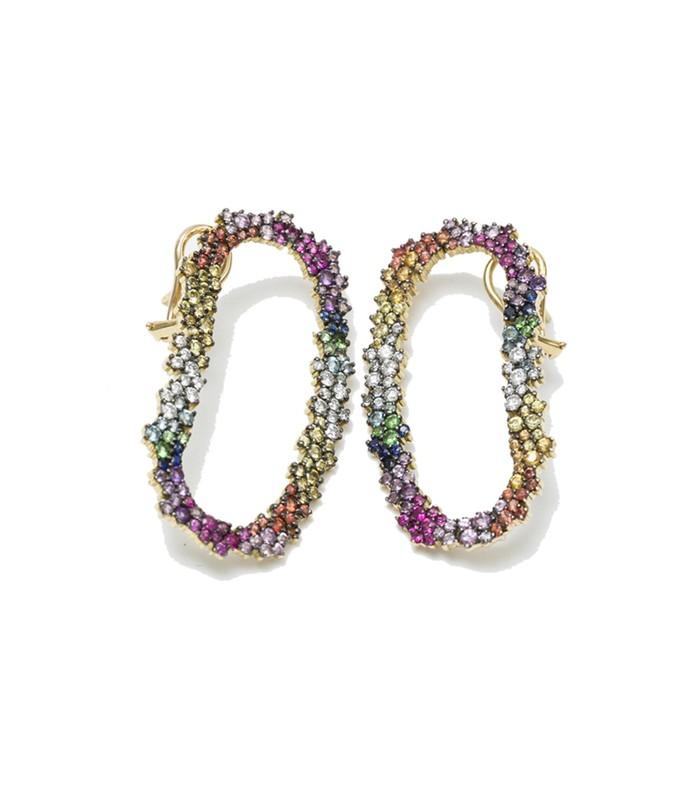 multicolor 'mia' earrings