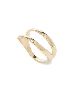 polished gold 'simplicity' ring