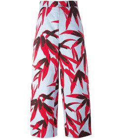 multicolor 'swash' print trouser