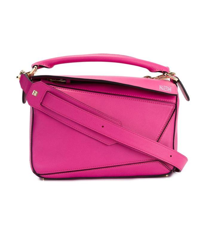 pink mini 'puzzle' crossbody bag