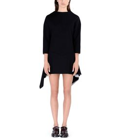 ShopBazaar Marni Black Neoprene Mini Dress FRONT