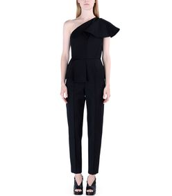 ShopBazaar MSGM One-Shoulder Jumpsuit FRONT