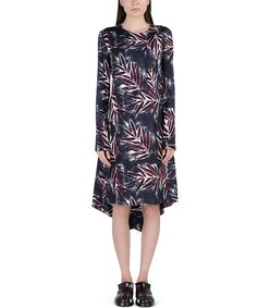 ShopBazaar Marni Silk Floral Printed Dress FRONT