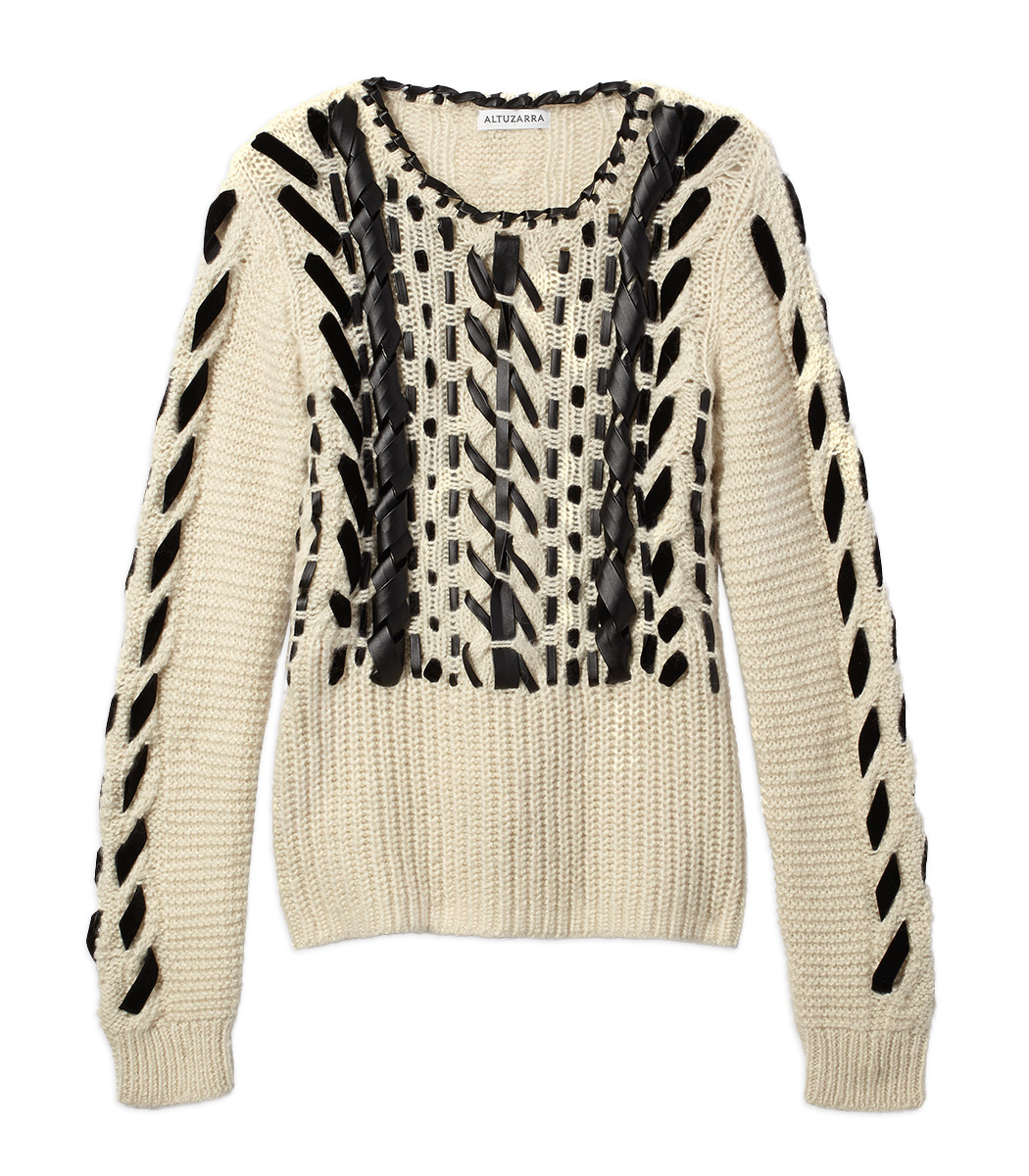 cream 'bactra' arcadia sweater