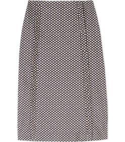ShopBazaar Marni Purple Cotton Floral-Print Midi Skirt MAIN