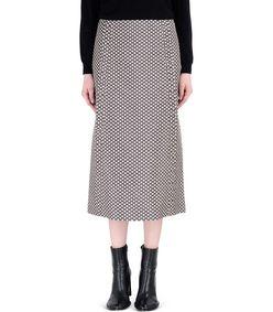 ShopBazaar Marni Purple Cotton Floral-Print Midi Skirt FRONT