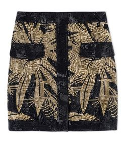 ShopBazaar Balmain Cotton Miniskirt MAIN