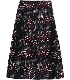 ShopBazaar Marni Printed Midi Skirt MAIN