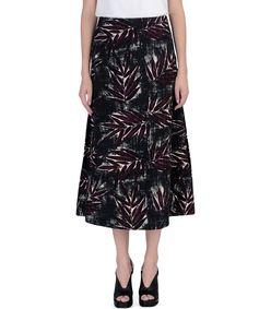 ShopBazaar Marni Printed Midi Skirt FRONT