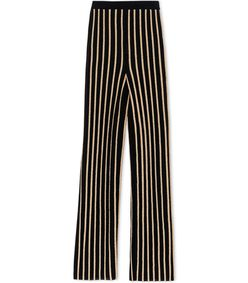 ShopBazaar Balmain Black & Gold Striped Pant MAIN