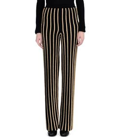 ShopBazaar Balmain Black & Gold Striped Pant FRONT