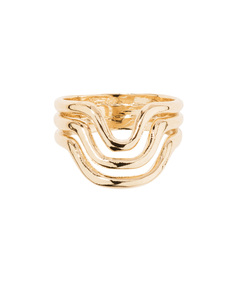 gold 'wavy' ring