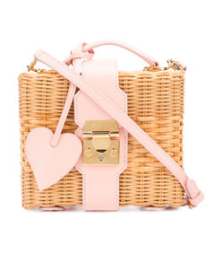 pink 'rattan' shoulder bag