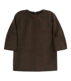 ShopBazaar Marni Olive Green Wool Top MAIN