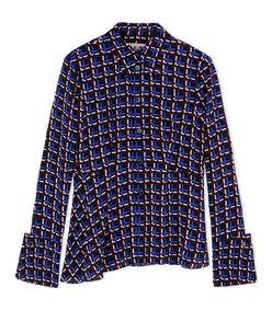 ShopBazaar Marni Checkered Peplum Shirt MAIN
