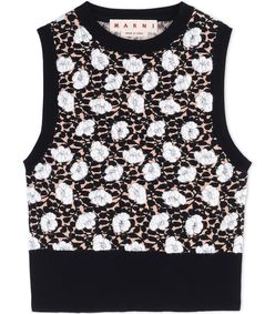 ShopBazaar Marni Black Sleeveless Knit Top MAIN