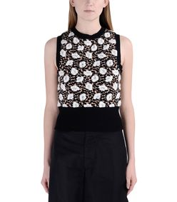 ShopBazaar Marni Black Sleeveless Knit Top FRONT