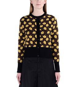 ShopBazaar Marni Yellow Floral Cardigan  FRONT