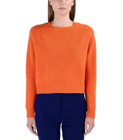 ShopBazaar Marni Orange Wool Sweater FRONT