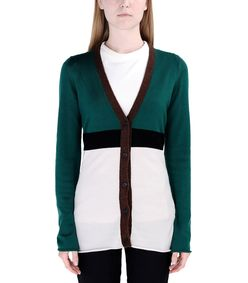 ShopBazaar Marni Color-Block Cardigan FRONT